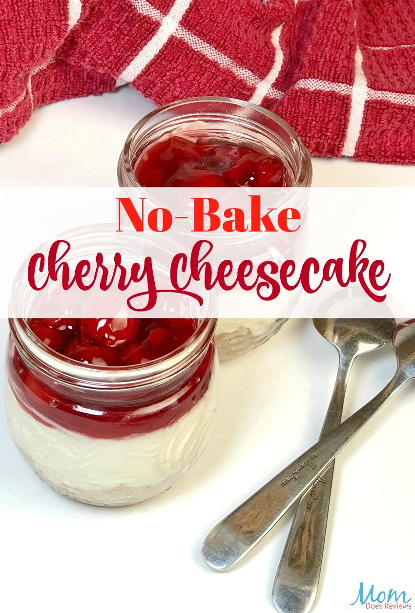 No-Bake Cherry Cheesecake Recipe #dessert #cheesecake #cherry #sweets #recipe #getinmybelly #foodie