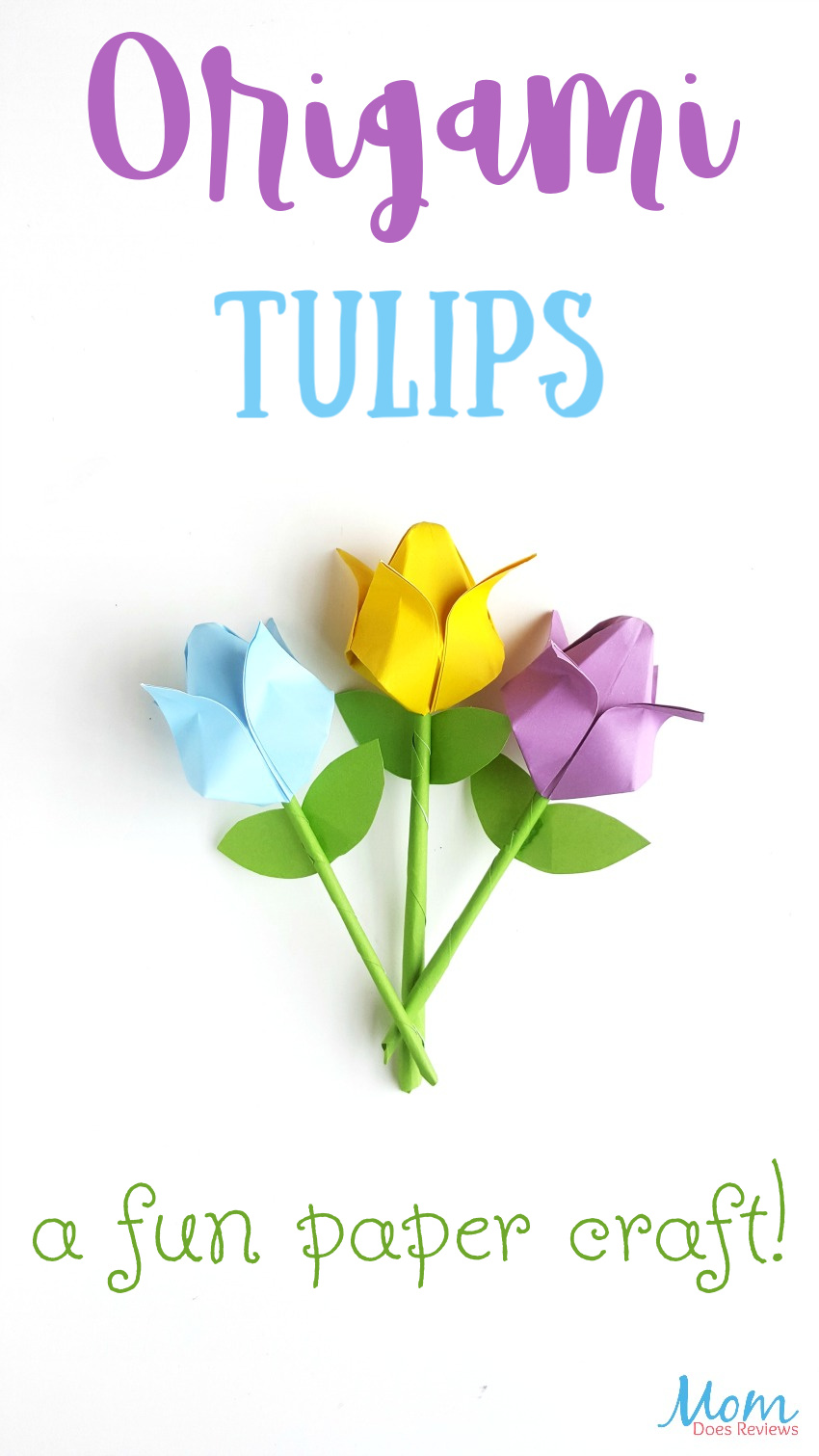 Origami Tulips: A Fun Paper Craft! #crafts #flowers #origami #papercraft #funstuff #mothersday