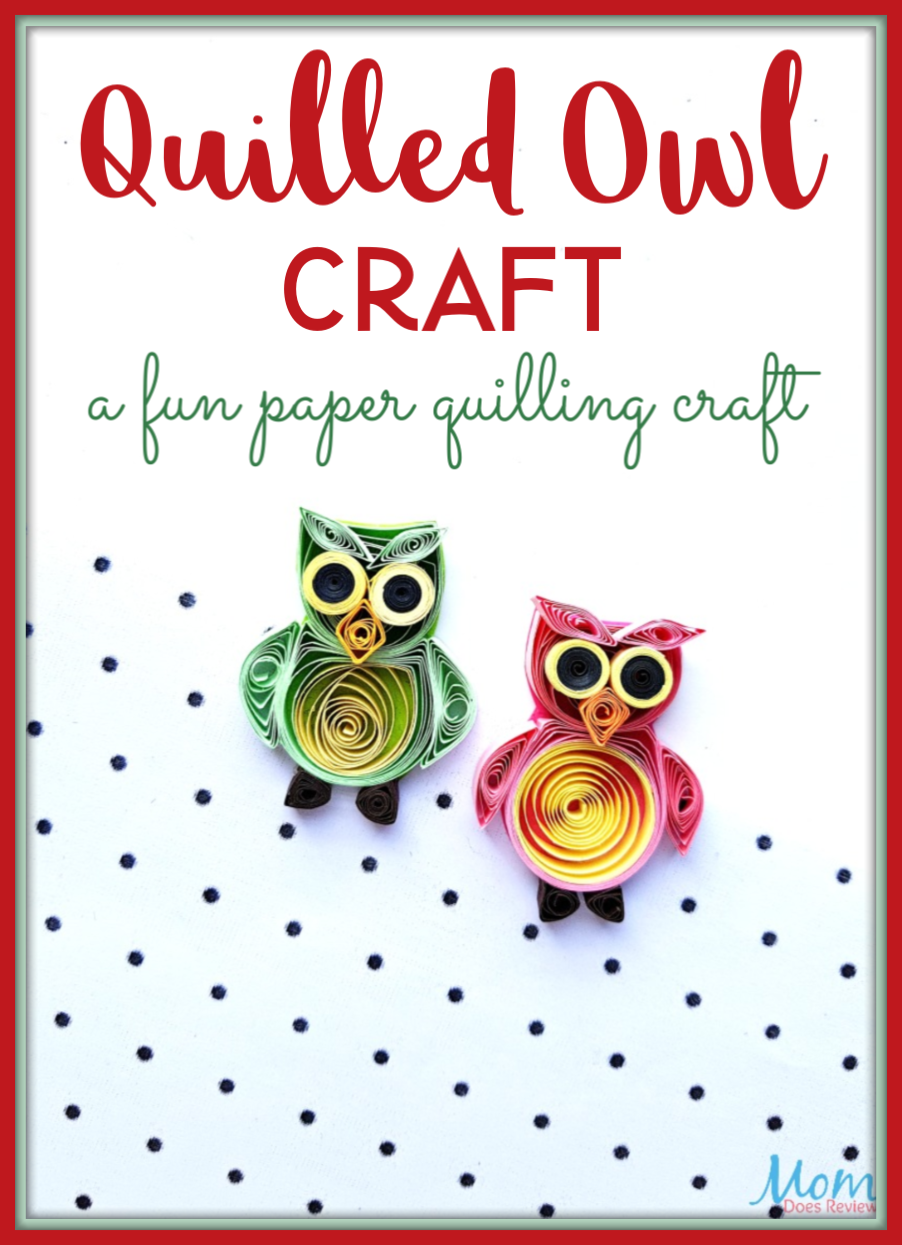 Quilled Owl Craft: A Fun Paper Quilling #Craft #owls #funstuff #papercrafts #quiling #paperquilling