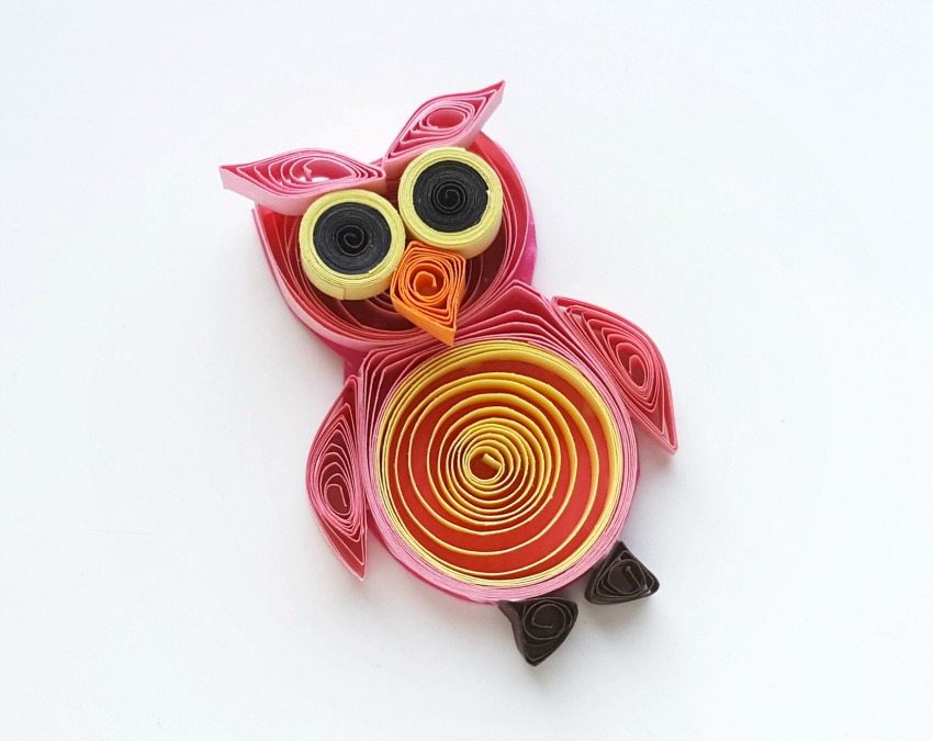 Quilled Owl Crafts process