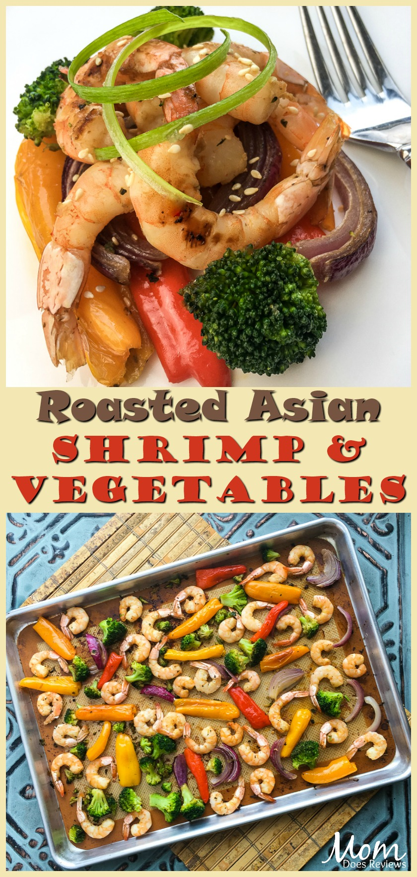 Roasted Asian Shrimp & Vegetables- Sheet Pan #Recipe #food #easyrecipes #sheetpan #shrimp #seafood #foodie