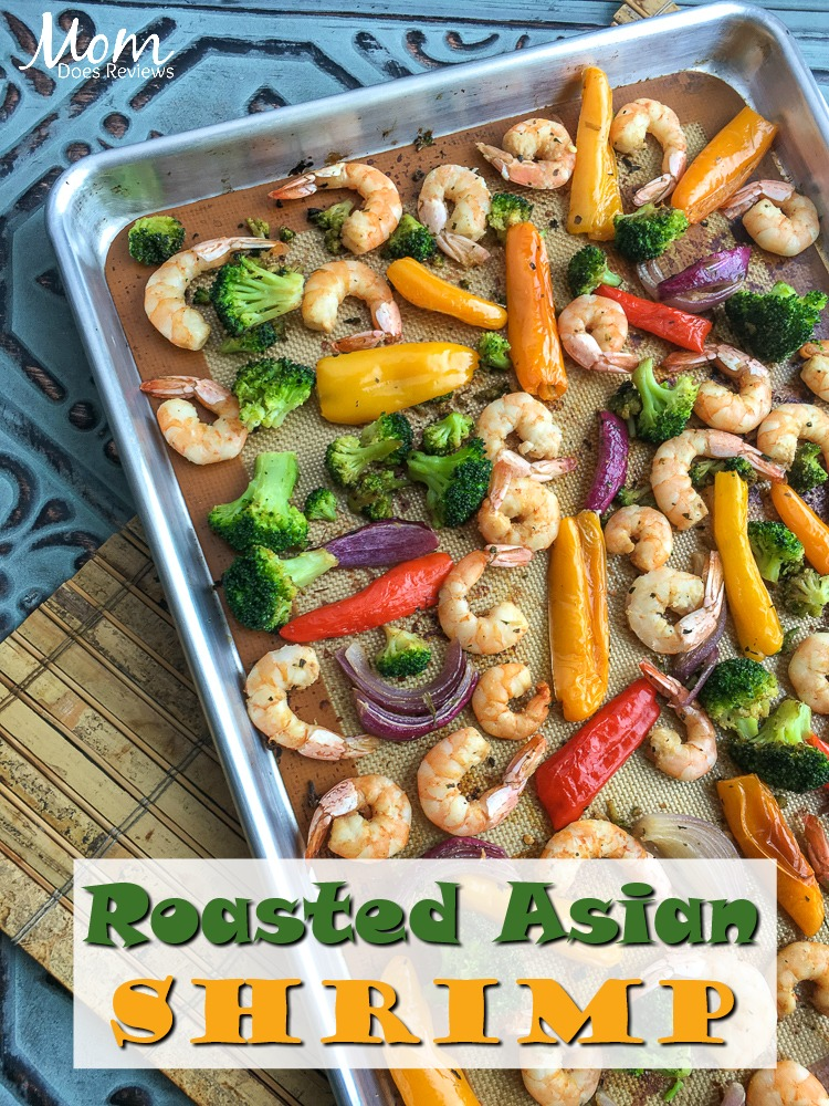 Roasted Asian Shrimp & Vegetables- Sheet Pan #Recipe