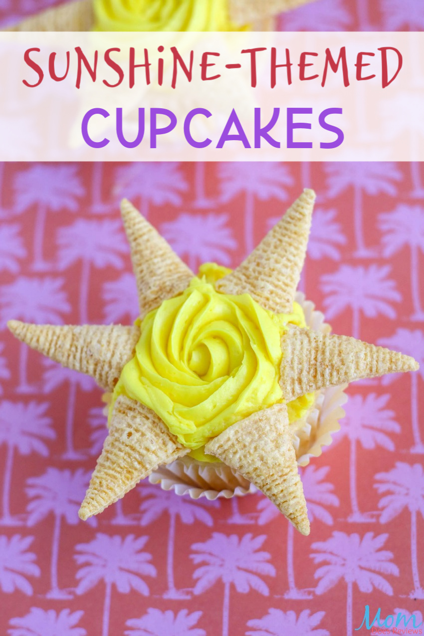 Sunshine-Themed Cupcakes Just in Time for Summer Fun! #cupcakes #summerfun #recipes #funfood #getinmybelly