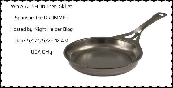 #Win an AUS-ION Steel Skillet $139 arv- US, ends 5/25