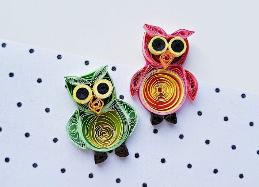 #Craft #owls #funstuff #papercrafts #quiling #paperquilling