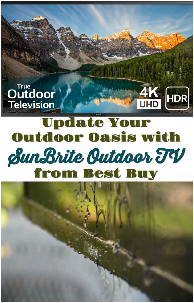 Update Your Outdoor Oasis with SunBrite Outdoor TV #OutdoorTV #ad #bestbuy #OutdoorLiving #AllWeatherTV #DigitalSignage