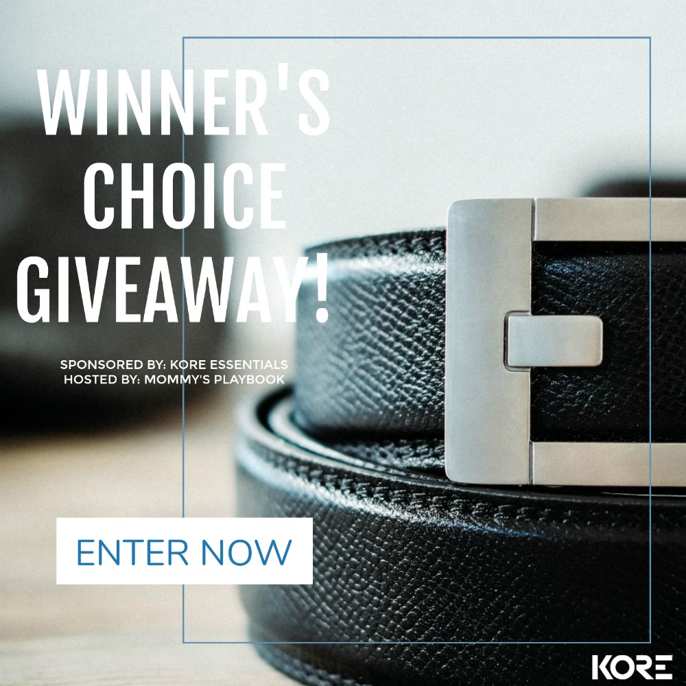 #Win a KORE Essentials Belt & Buckle of Your Choice! US, ends 6/3