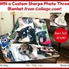 #Win a Custom Sherpa Photo Throw Blanket (50x60) from Collage. com, US, ends 6/2