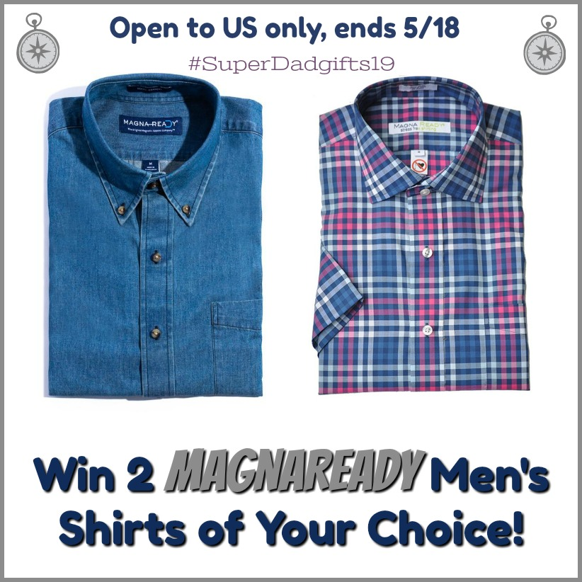 #Win 2 MagnaReady Shirts for Him (arv $100+) US only, ends 5/18 #SuperDadGifts19
