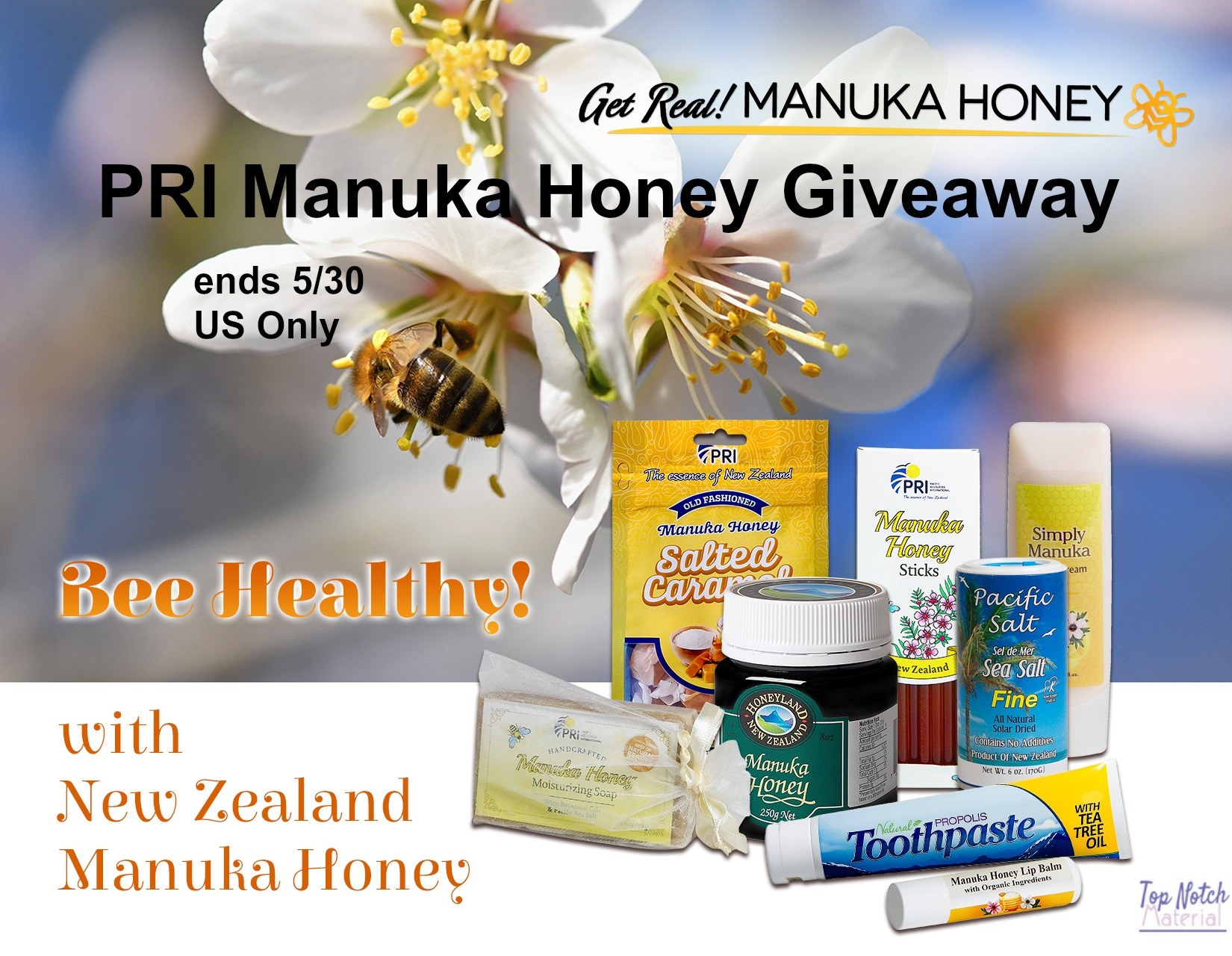 #Win the Bee Healthy Manuka Honey Prize Pack!