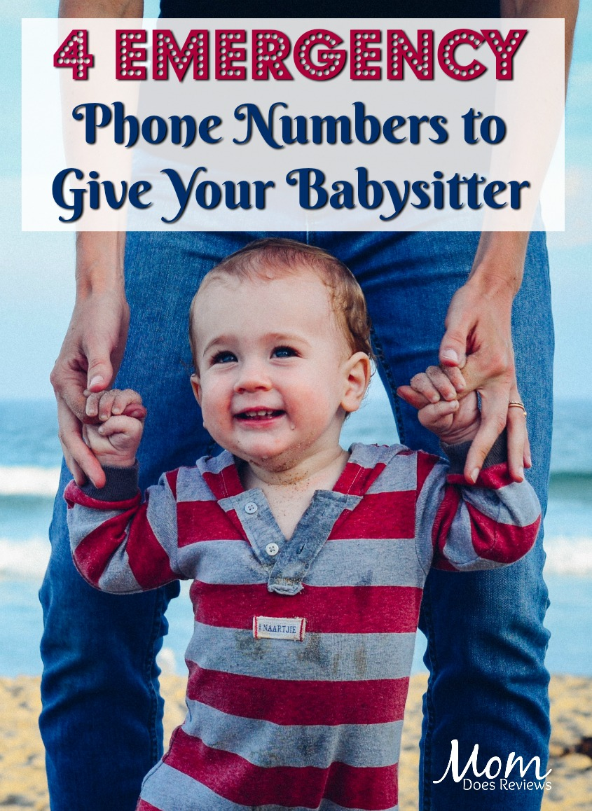 4 Emergency Phone Numbers to Give Your Babysitter #babies #parenting #babysitting #babysitter #emergency