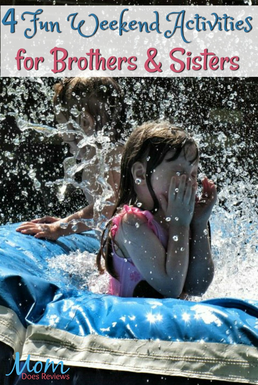 4 Fun Activities for Brothers and Sisters on the Weekend #family #siblings #parenting #funstuff