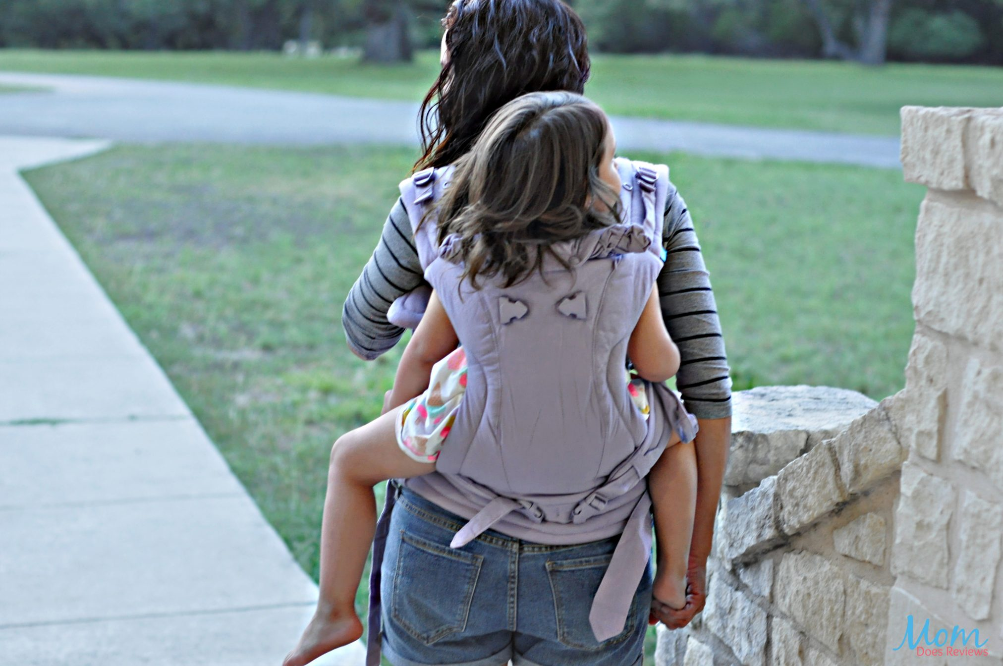 Back carrying a toddler in We Made Me Imagine My Favorite 3-in-1 Baby Carrier