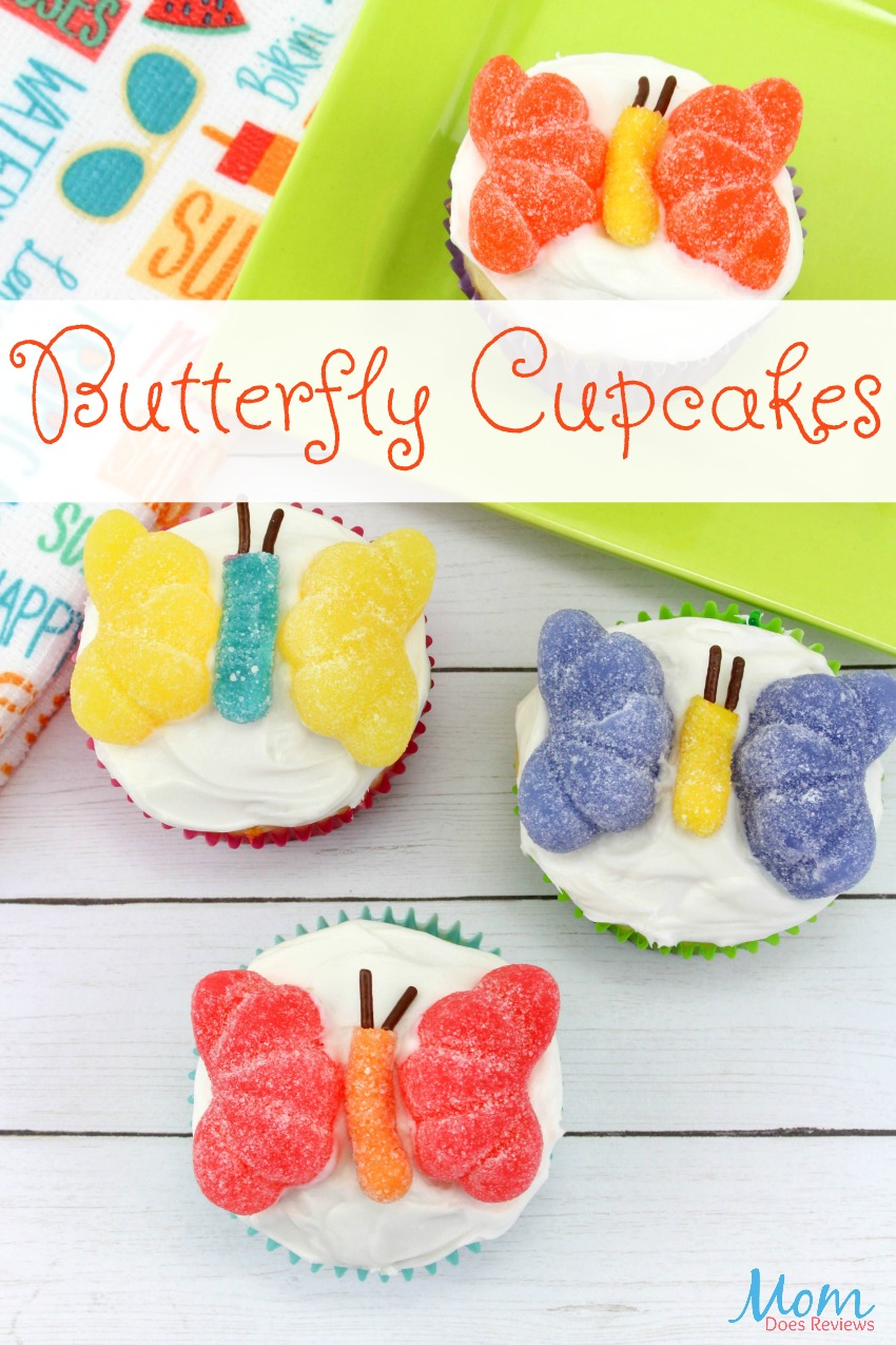 Make Your Own Sweet Butterfly Cupcakes #sweets #funfood #recipe #diy #cupcakes