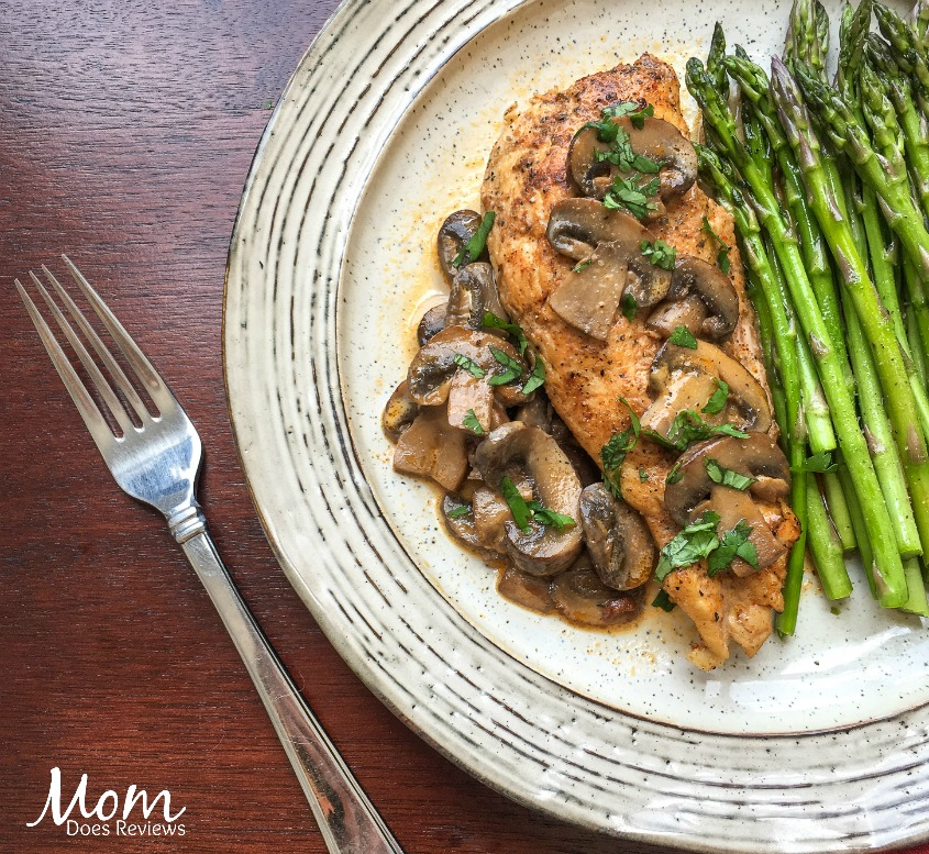 Instant Pot Chicken Lanzone with Baby Portobello Mushrooms