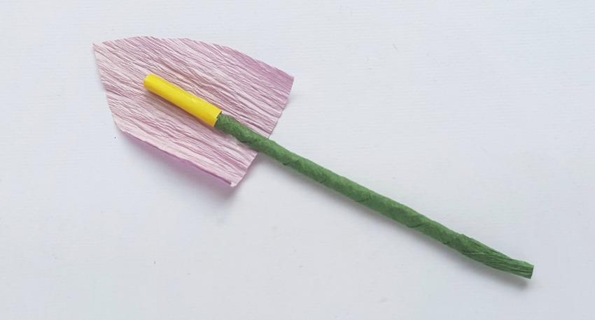 Crepe Paper Calla Lily process