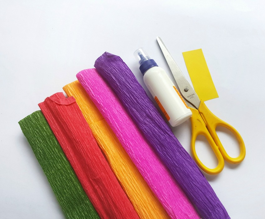 Crepe Paper Calla Lily supplies needed