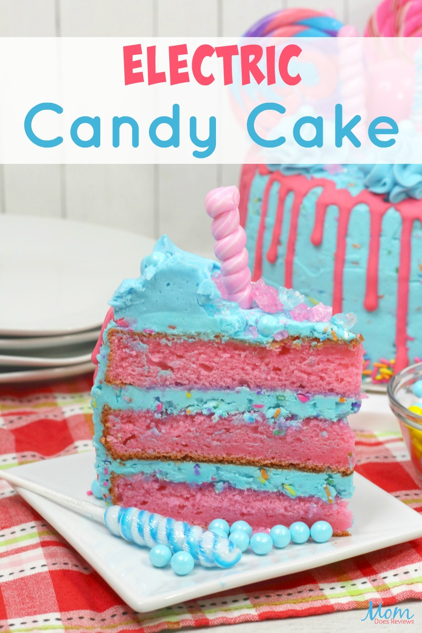 Electric Candy Cake #Recipe #dessert #cake #sweets #candy #funfood #prettyfood