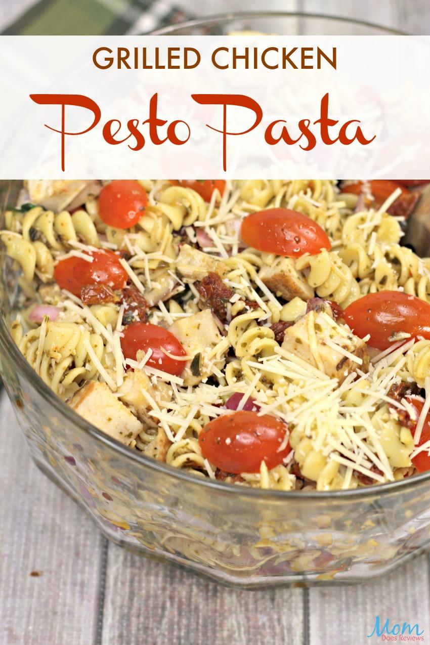 Grilled Chicken Pesto Pasta #Recipe #foodie #yummy #pastasalad #getinmybelly #chicken