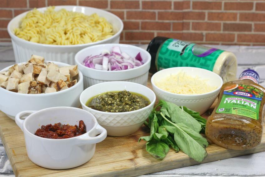 Grilled Chicken Pesto Pasta ingredients