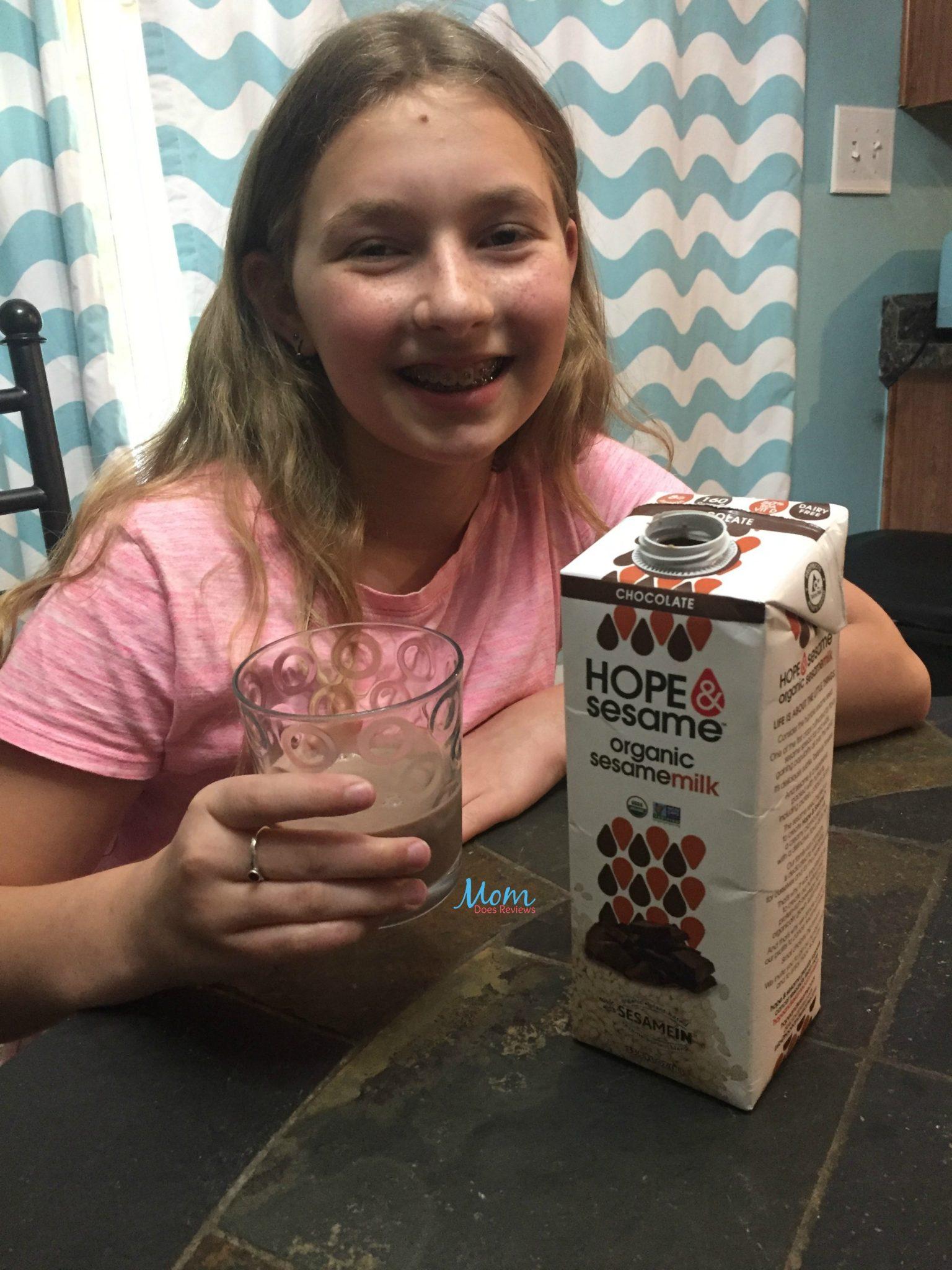 chocolate sesame milk