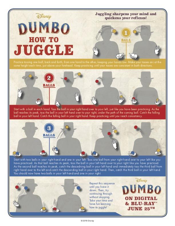 How to juggle, Dumbo on blu-ray and Digital! #Dumbo