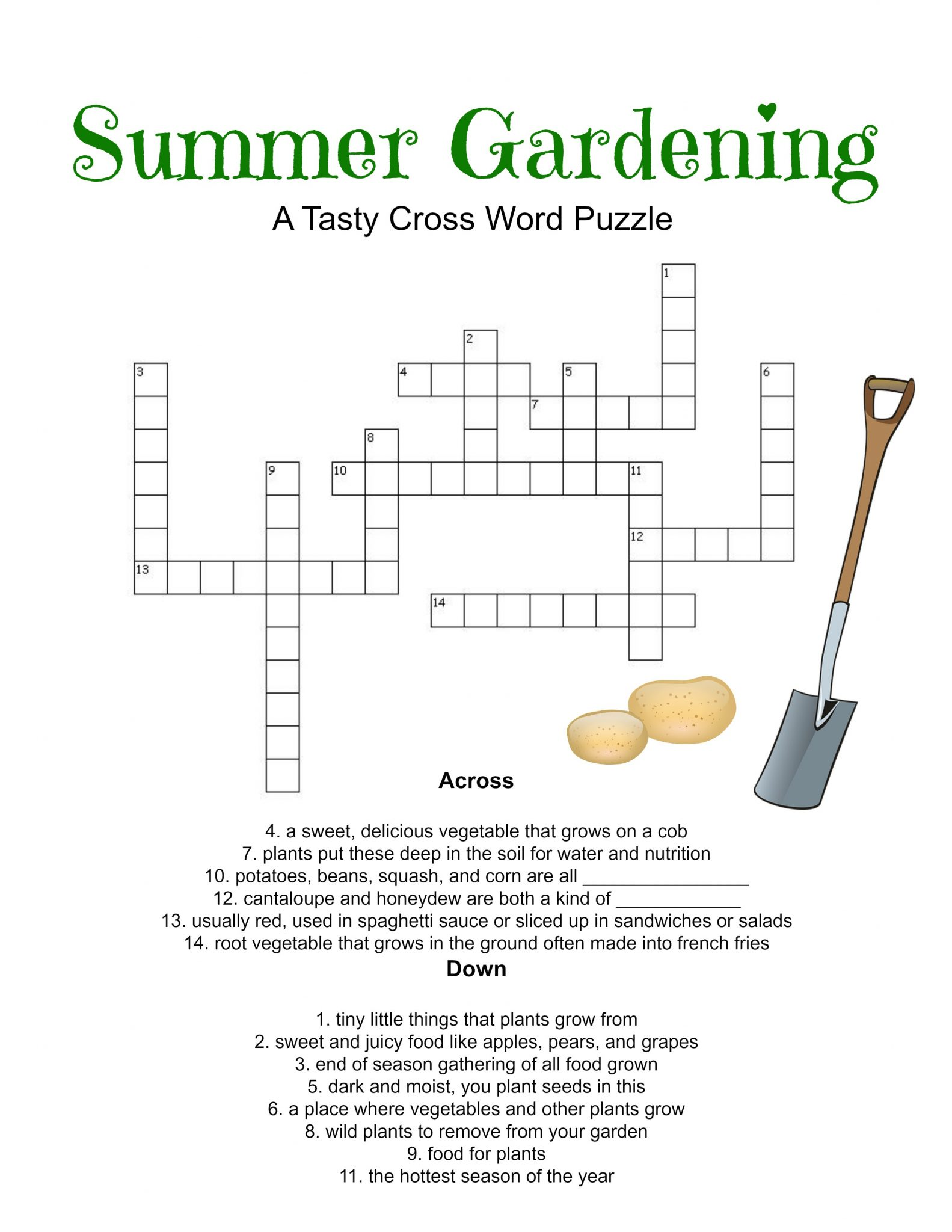 Summer Gardening Printable Game Set for Kids! #Printables