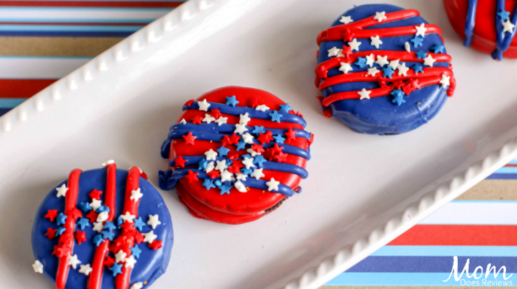 Red, White and Blue Oreo Cookies For Festive Fun!