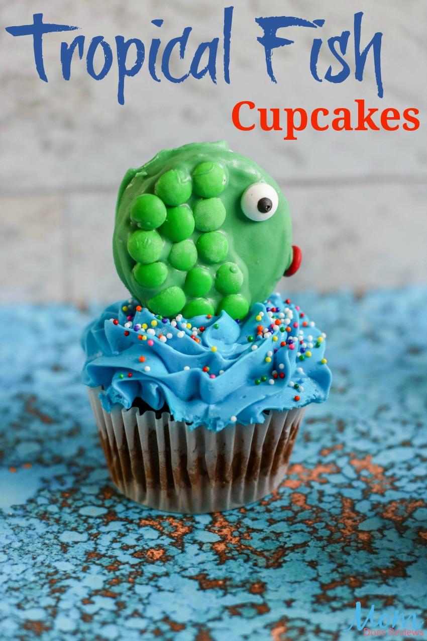 Tropical Fish Cupcakes Tutorial #diy #cupcakes #funfood #desserts #sweettreats #yummy