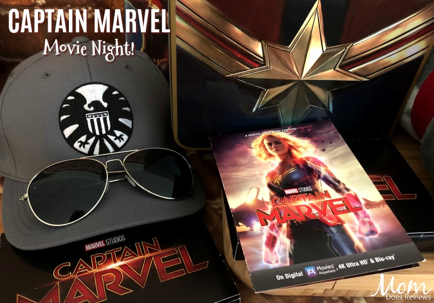 Have a Captain Marvel Movie Night- It's Fun for the Whole Family! #CaptainMarvel