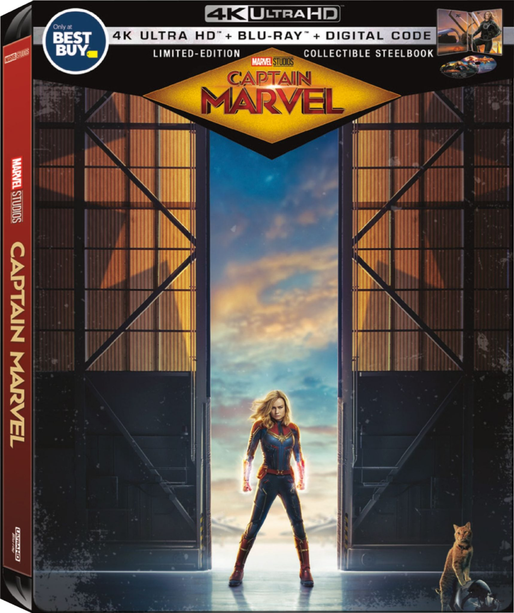 Captain Marvel is now available! Get the Collectible SteelBook format at #BestBuy today! #CaptainMarvel