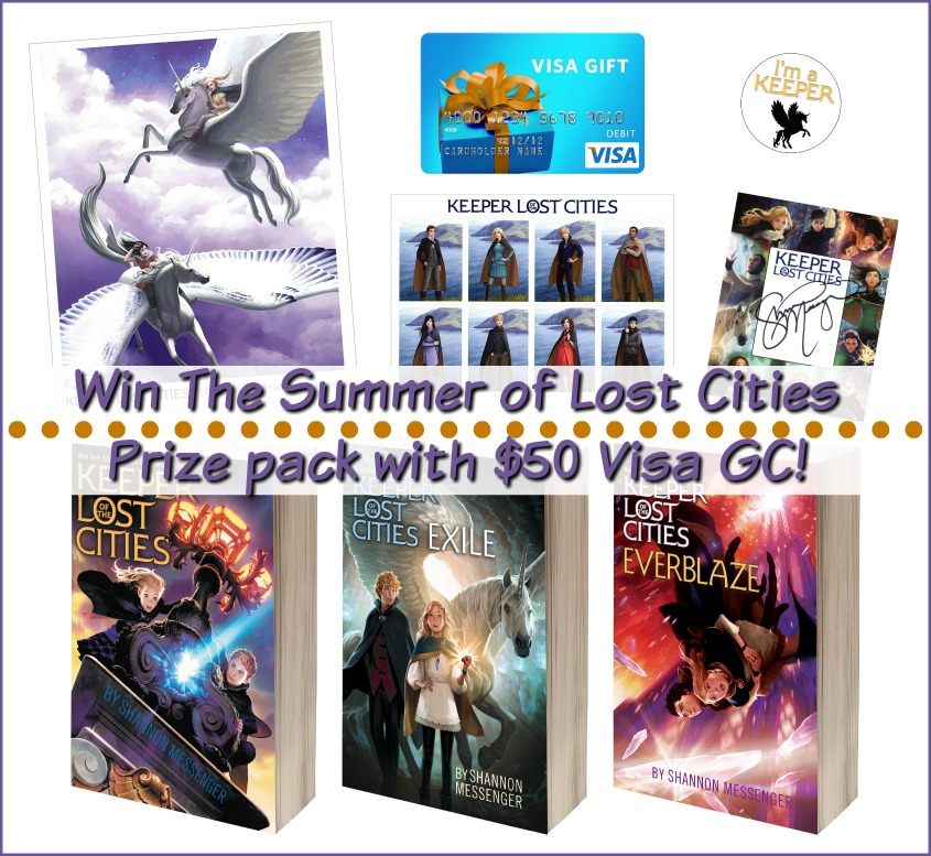 Summer of the Lost Cities! #Win $50 Visa GC & Keeper of the Lost Cities Books 1-3! US, ends 6/16 #KOTLC