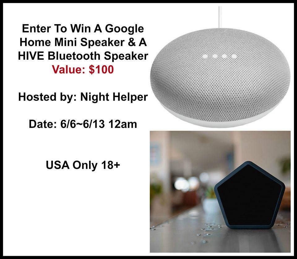 Win A Google Home Mini & A HIVE Bluetooth Speaker