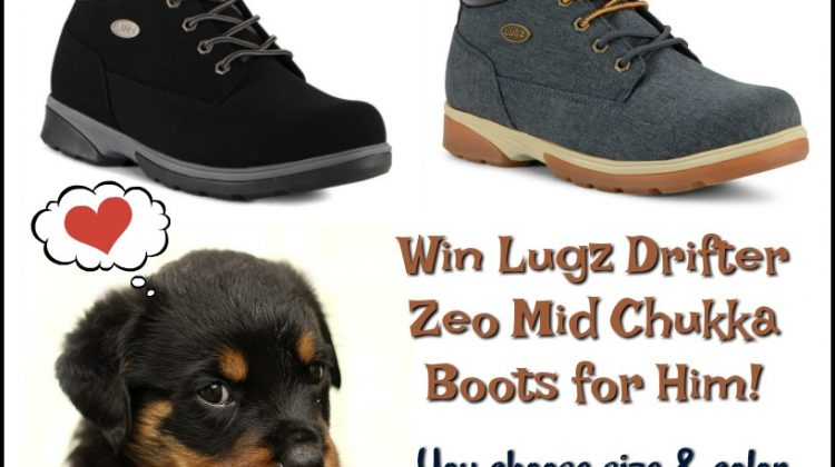 #Win Lugz Drifter Zeo Mid Chukka Boots - Fashionable Footwear for Him! US, ends 6/20 #MDRSummerFun