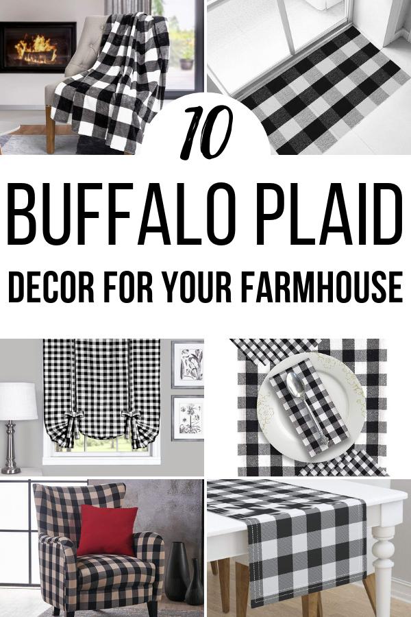 Buffalo Plaid Decor for that Farmhouse Look! #decor #amazonfinds #buffaloplaid #farmhousestyle #interiordesign