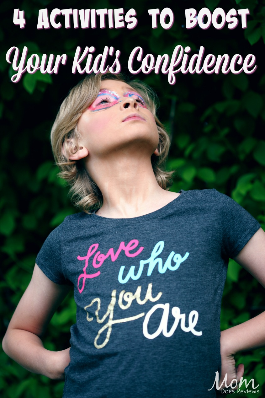4 Activities to Boost Your Kids' Confidence #parenting #confidence #selfconfidence #kids #loveyourself