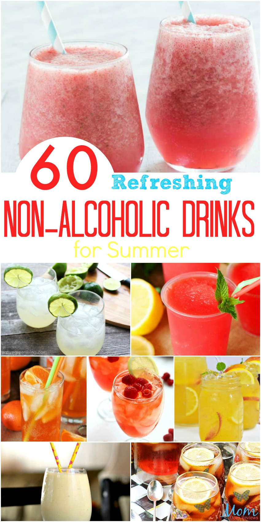 60 Refreshing Non-Alcoholic Drinks for Summer #drinks #summer #frozendrinks #virgindrinks