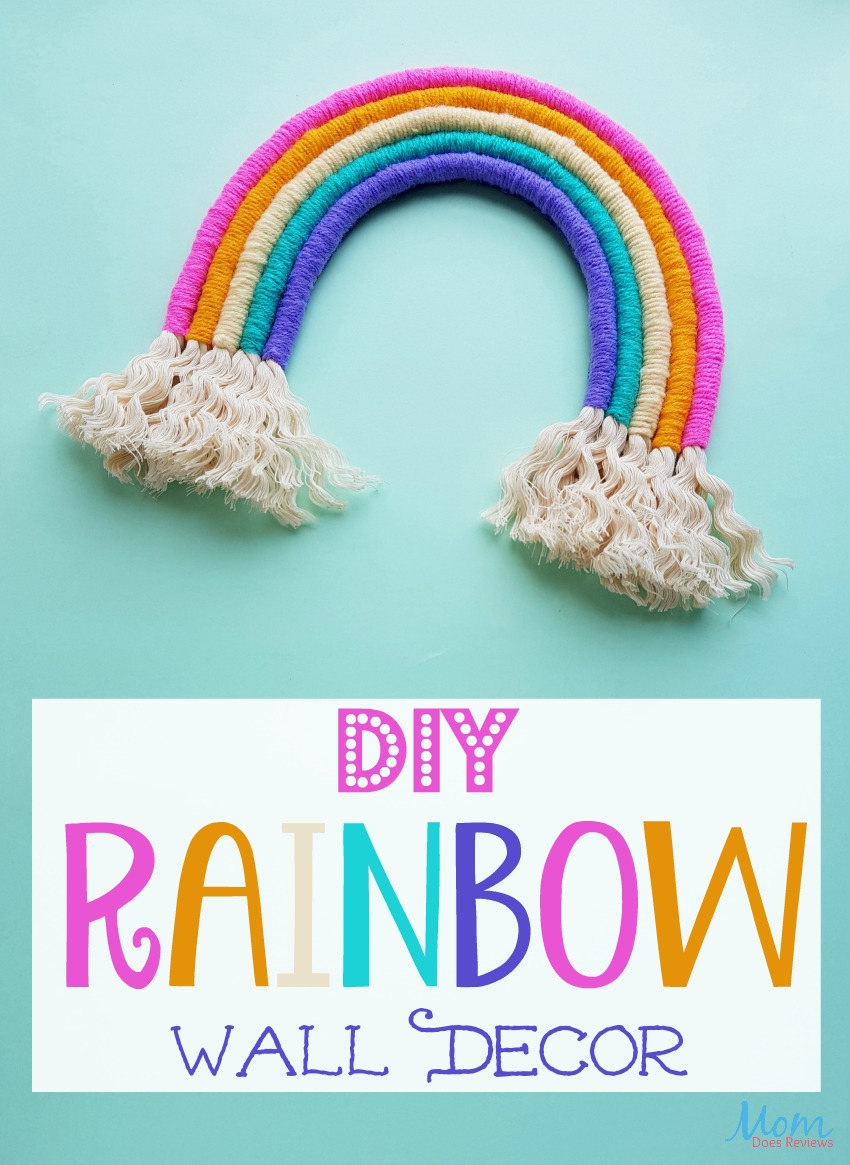 Fun and Whimsical DIY Rainbow Wall Decor #craft #diy #decor