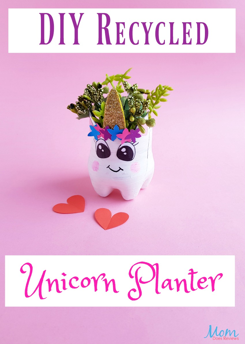 Simply Adorable DIY Recycled Bottle Unicorn Planter #craft #unicorn #planter #diy #unicorncraft