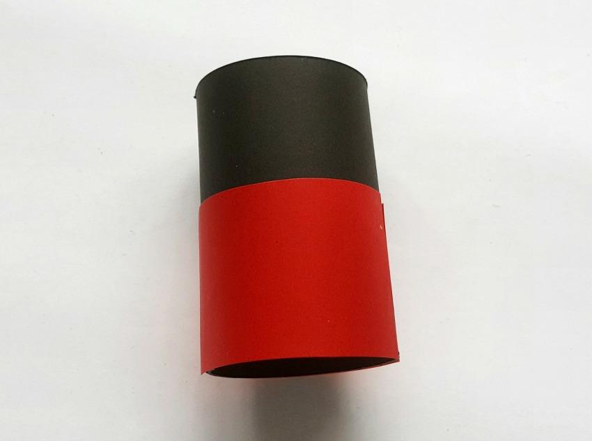 Ladybug Toilet Paper Roll Craft process