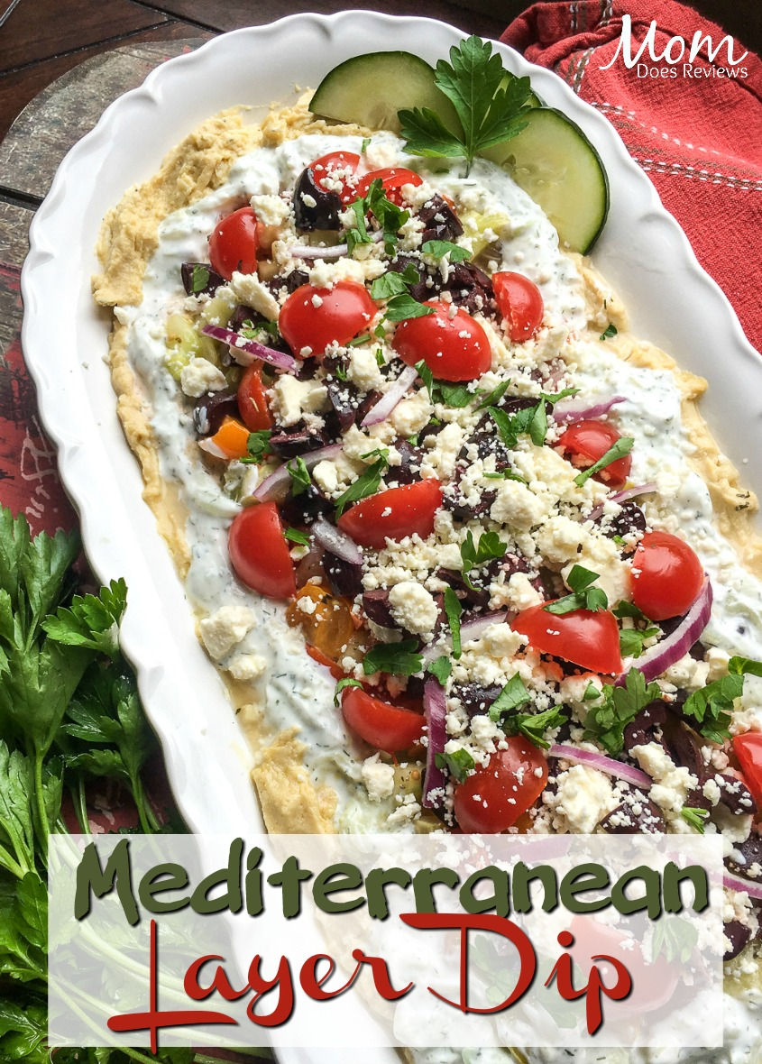 Mediterranean Layer Dip #recipe #appetizer #food #foodie #getinmybelly
