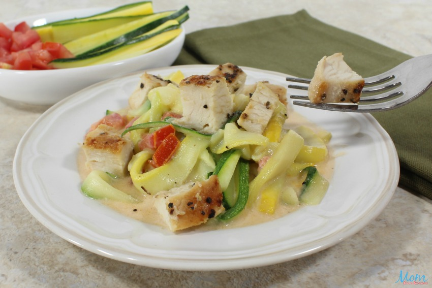 Squash Fettuccine with Grilled Chicken Recipe