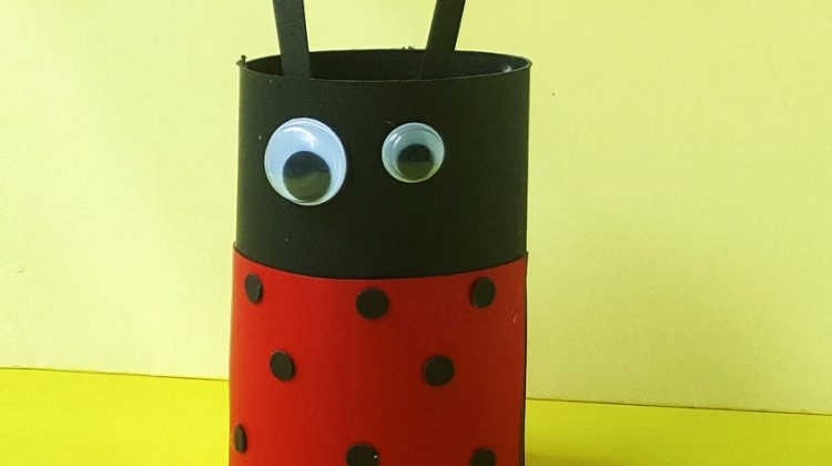 Ladybug Toilet Paper Roll Craft for Kids #craft #easycraft #funstuff