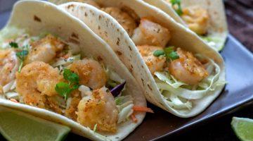 Sensational Shrimp Tacos with Coleslaw