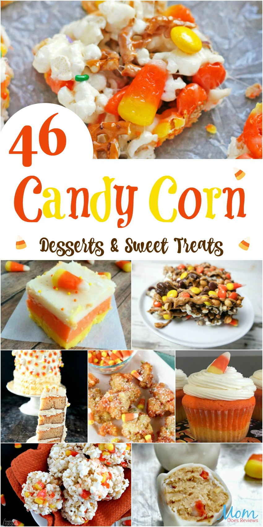 46 Candy Corn Desserts & Sweet Treats Perfect for Fall #recipes #sweets #halloween