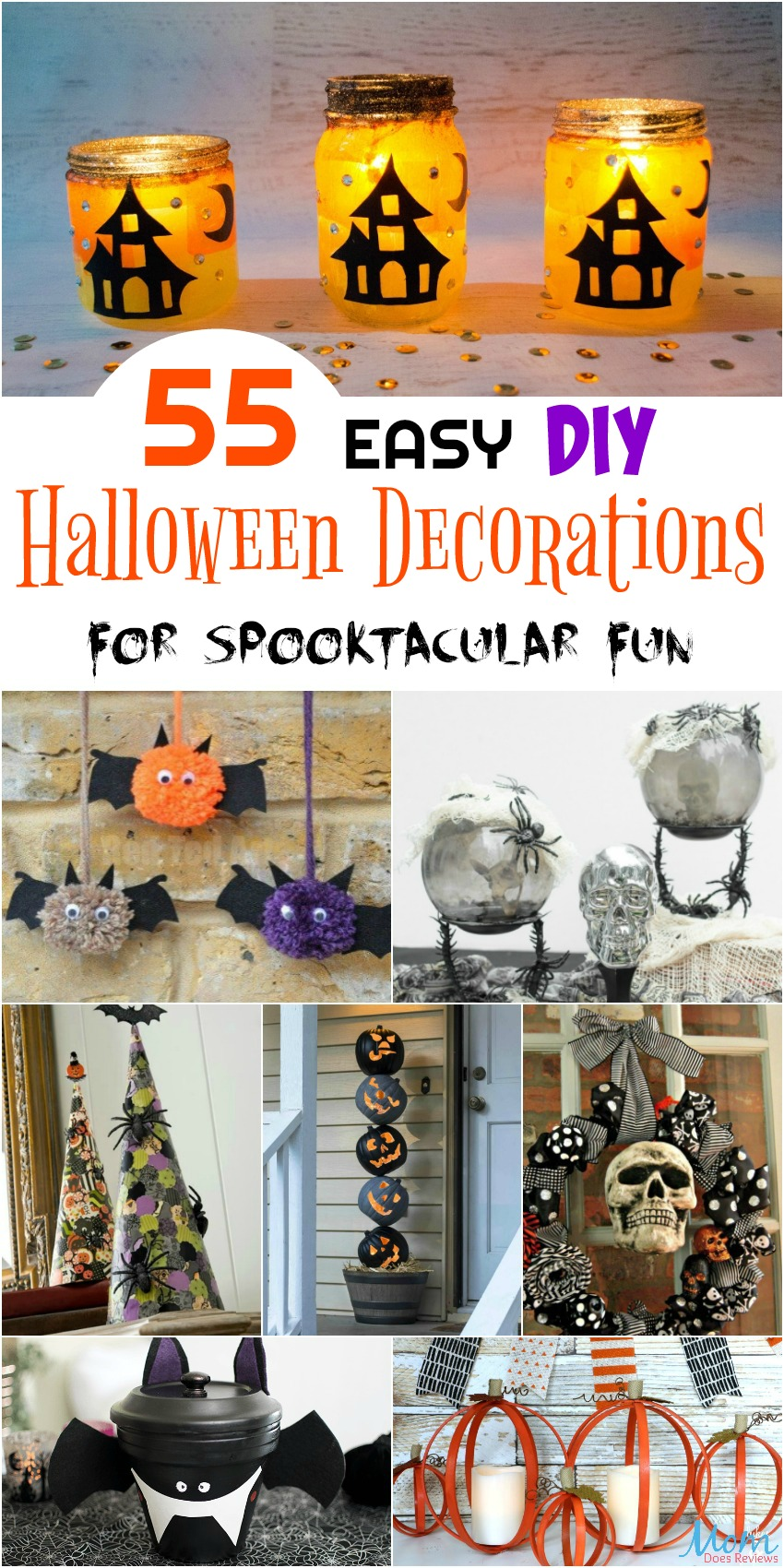 55 Easy DIY Halloween Decorations for Spooktacular Fun #halloween #diy #decor