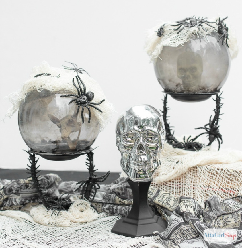 Dollar Tree Halloween Crystal Ball Craft