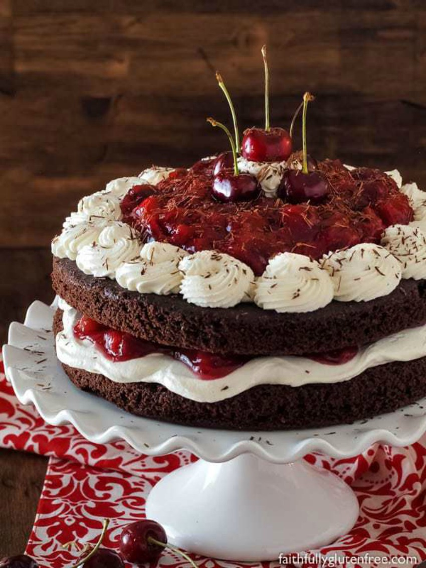 Easy Flourless Black Forest Cake from Scratch