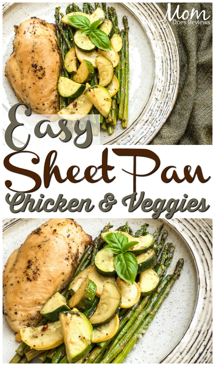 Easy Sheet Pan Roasted Veggies and Chicken Breast #easyrecipes #chicken #foodie