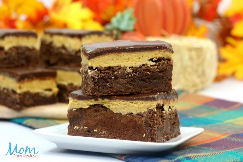 Decadent Triple Layered Pumpkin Brownies